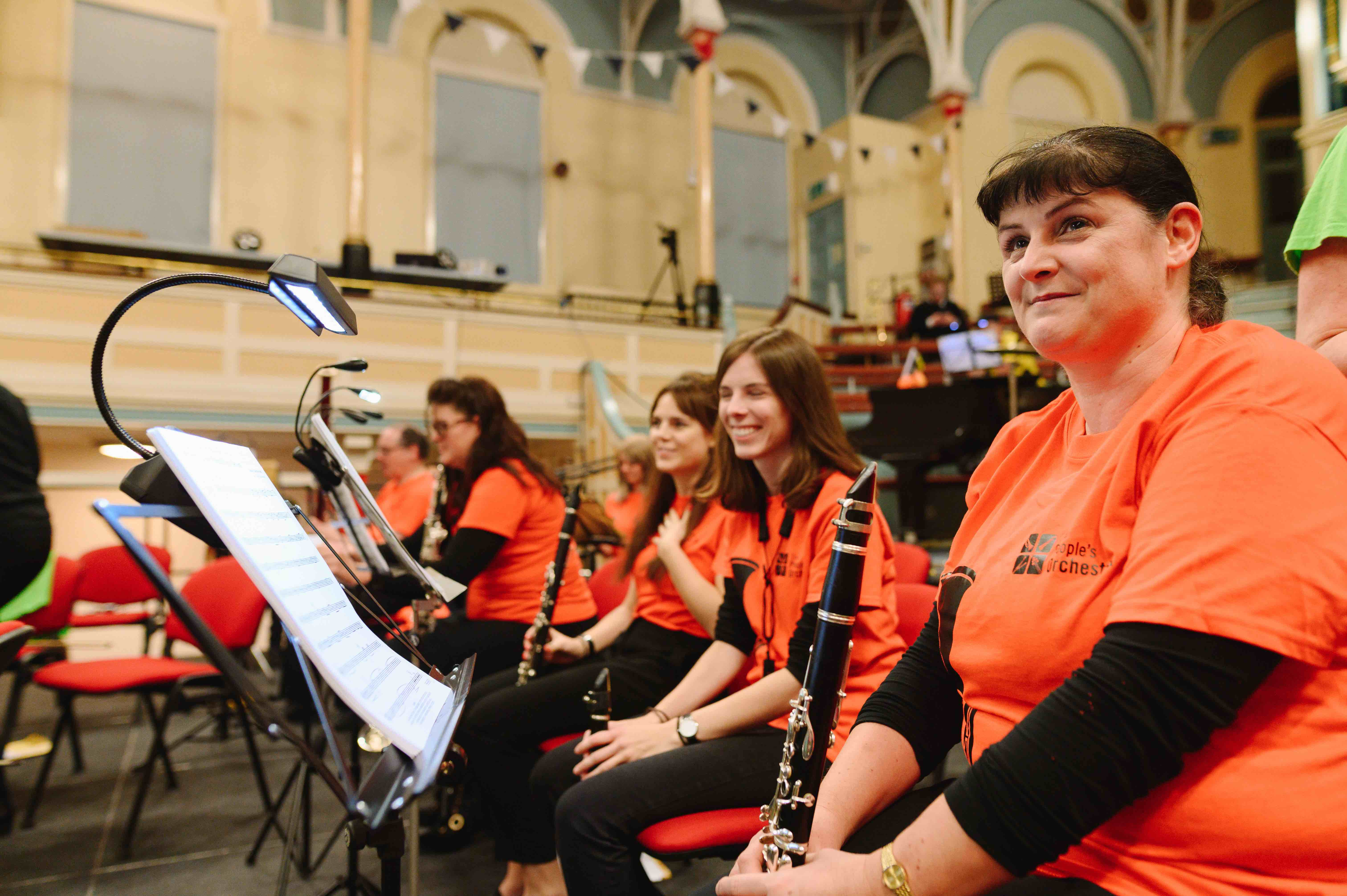 TPO clarinettists in dress rehearsal