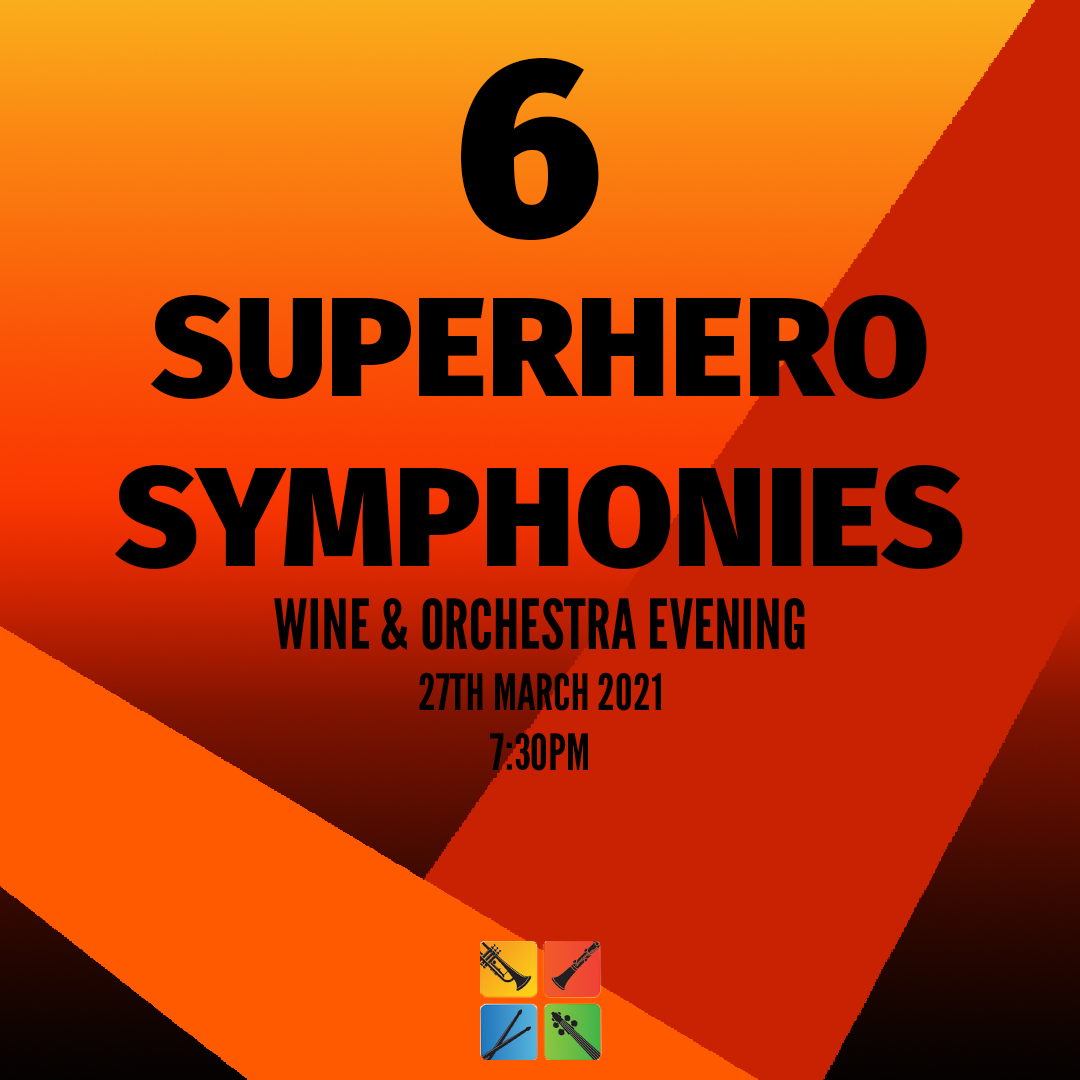 6 Person Table Superhero Symphonies – Wine Tasting with Orchestra Live