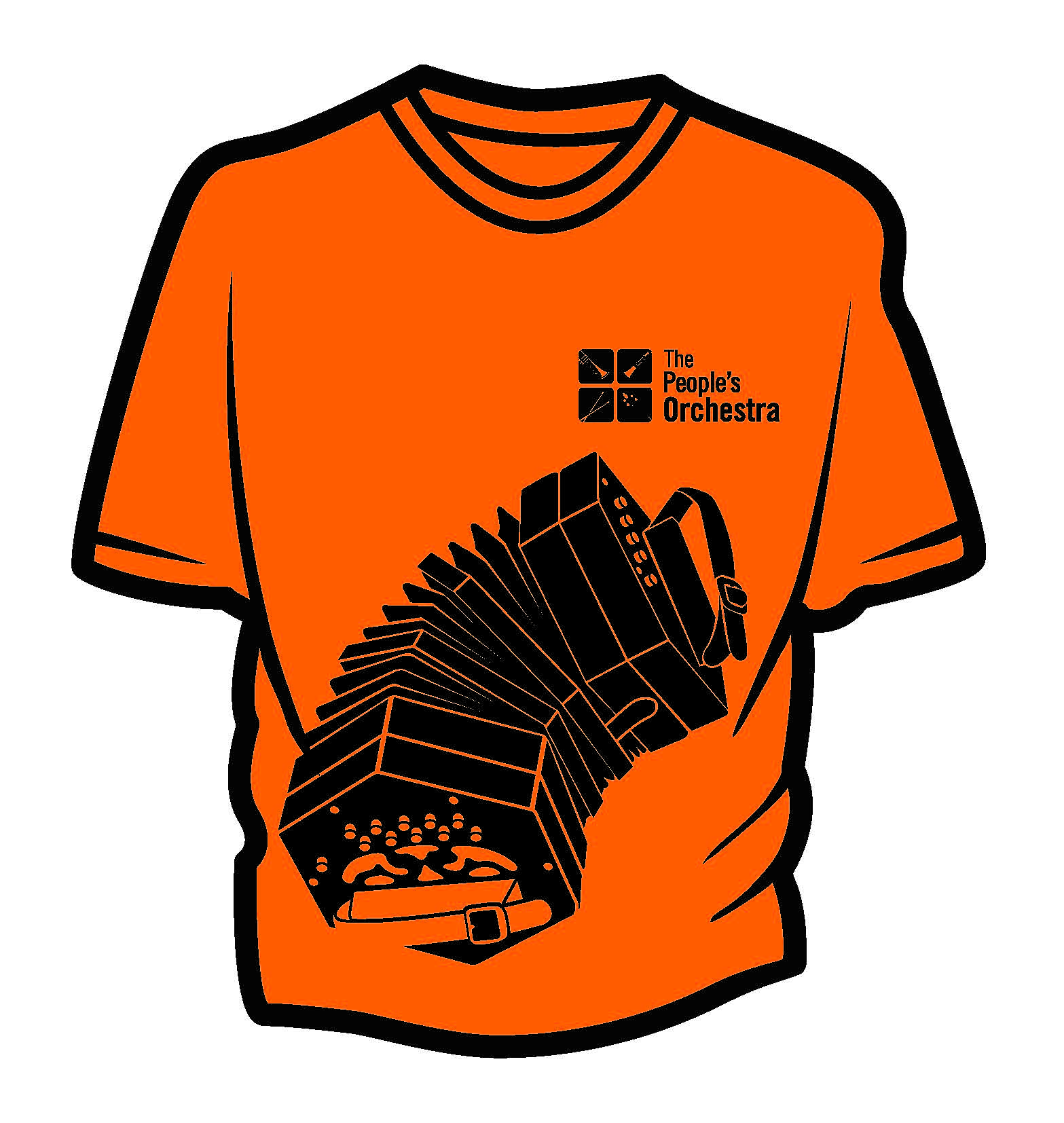 The Rusty Player's Orchestra Concert T Shirt